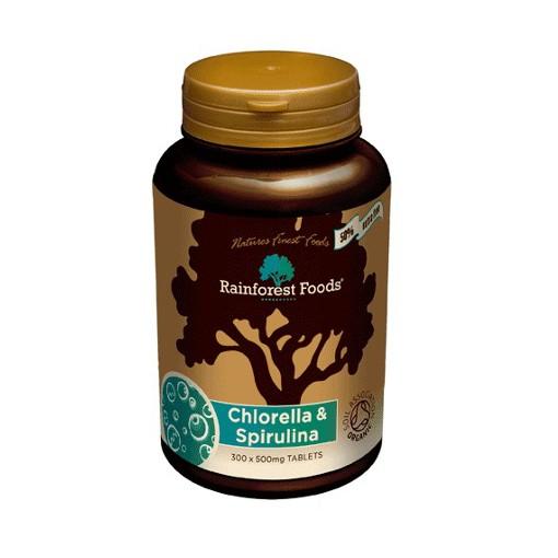 Spirulina Chlorella Superfoods Rainforest Foods